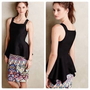 Anthropologie Deletta Peplum Rib Tank Size Small